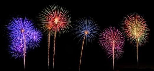 Set of 5 fireworks