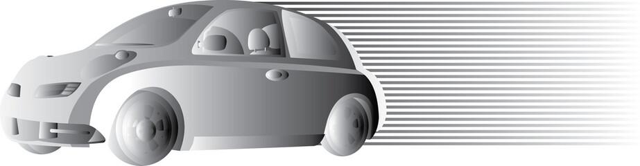 vector image of grey car