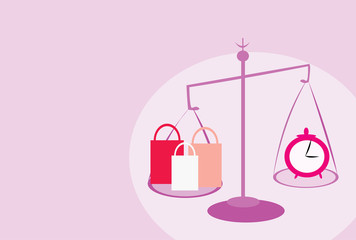 vector image of shopping balance