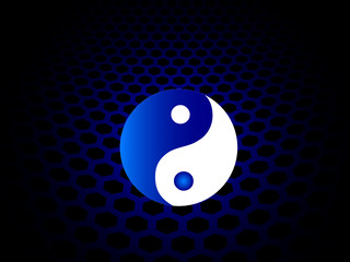ying and yang background