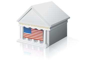 Place de marché américaine (reflet)