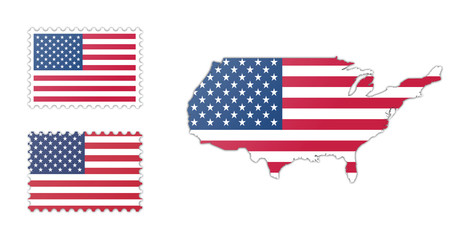 USA Flag and Map Pack