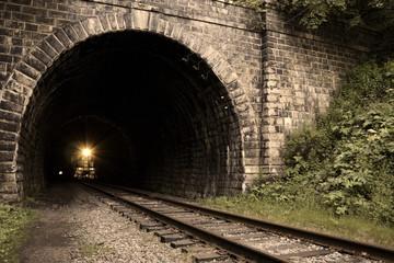 straight railroad tunnel of the Circum-Baikal Road