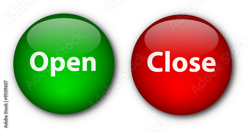 Open close buttons