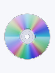 Illustration of a CD isolated
