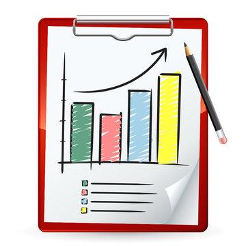 Support de prise de notes et graphique