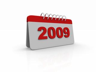 Calendario 2009 rosso