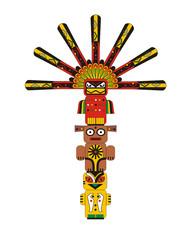 Totem pole Indian animal idols