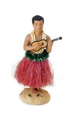 Hula man playing instrument