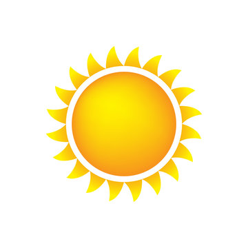 Sun Icon With Flames, Color, Gradient Orange/Yellow