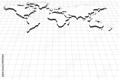 Abstract perspective grid with world map stock image and royalty abstract perspective grid with world map gumiabroncs Choice Image