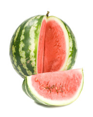 Fresh appetizing water-melon on a white background