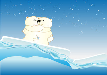 Keuken foto achterwand Beren Icebears