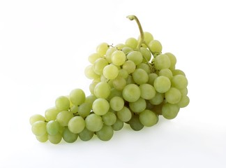 bunch of white swet grapes