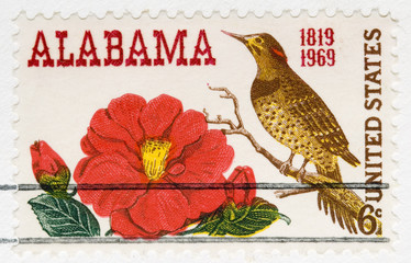 This is a Vintage 1968 Stamp Alabama