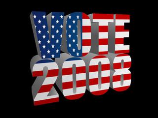 Vote 2008 - Black Background