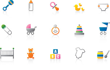 Baby Icon Set - Full Color version