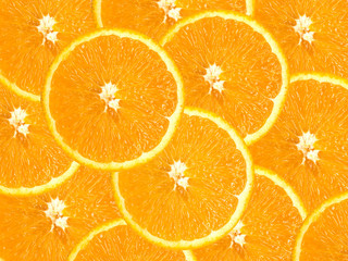 Group of juicy oranges for a background