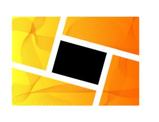 cornice su sfondo astratto arancione giallo