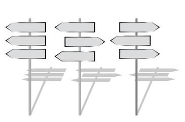 blank signpost set 2