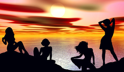 bellezze al bagno e tramonto