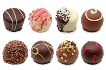 Fototapeta chocolate truffles assortment 2 obraz