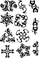 Vectorial illustration. Black and white patterns