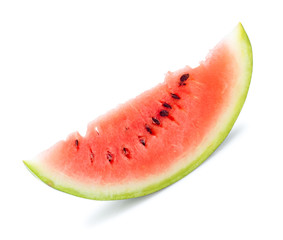 isolated slice of water melon, white background