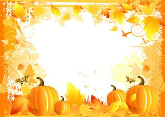 Autumn Border Elements - vector illustration.