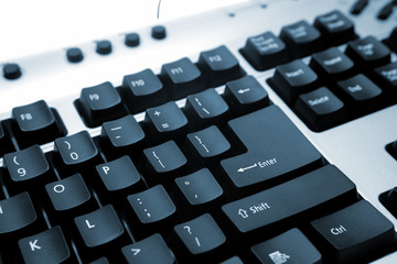 Closeup of computer keyboard