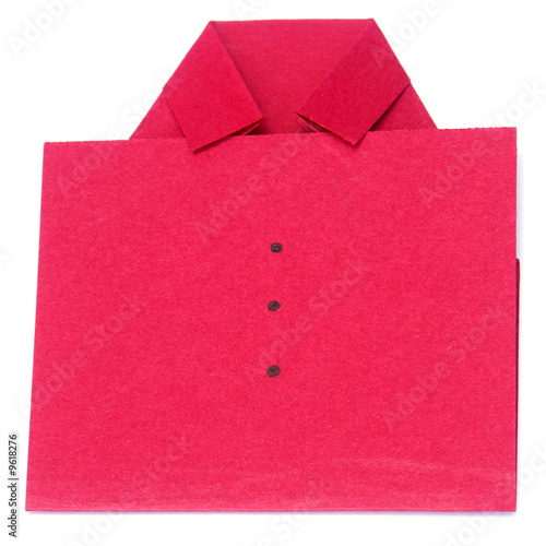 chemise rouge en papier pli photo libre de droits sur la banque d 39 images image. Black Bedroom Furniture Sets. Home Design Ideas