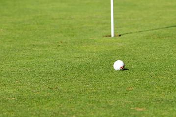 golf ball at grass field