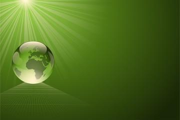 écologie terre verte transparente sur un fond vert