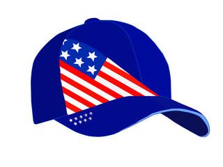 Vector patriotic baseball cap