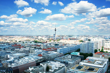 Foto auf Leinwand Berlin Berlin bird's-eye view. Germany