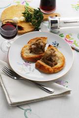 Crostini con la beccaccia - Antipasti Toscana