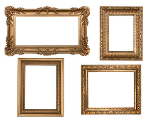Decorative Gold Empty Wall Picture Frames