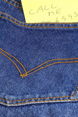 message call me in a bluejeans pocket