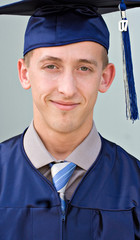 Portrait of a male high school graduate