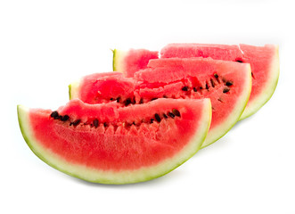 present astrakhan sugar red and ripe watermelon
