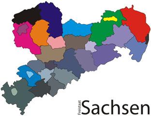 Freistaat Sachsen -Color