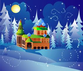 Foto op Plexiglas Kasteel Santa house