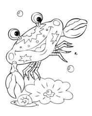 Illustration crab