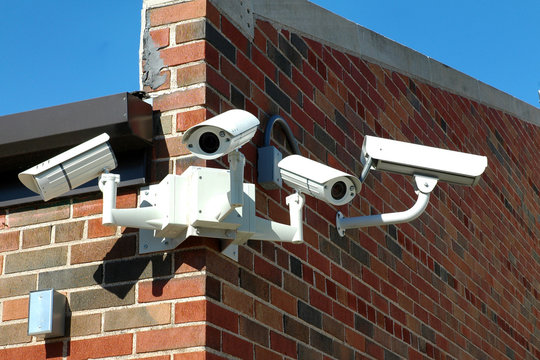 An Array of security cameras at a local school