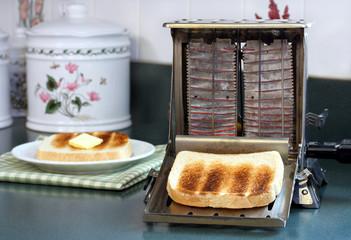 Vintage Toaster with Toast