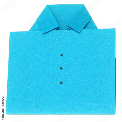 chemise bleue en papier canson pli photo libre de droits sur la banque d 39 images. Black Bedroom Furniture Sets. Home Design Ideas