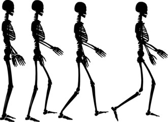 skeleton step
