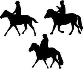 three horsemen silhouettes
