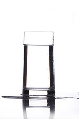 Glass of water isolated in white background