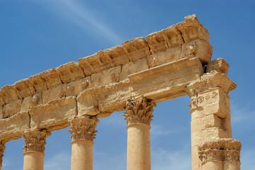 ancient columns Palmyra, Syria